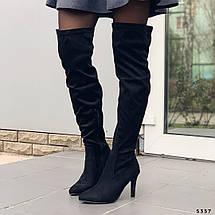 Черные замшевые сапоги, фото 3