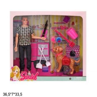 Кукла Sariel 29см 7726-A3 парень с собачкой и аксес.кор.36,5*7*33,5 /48/