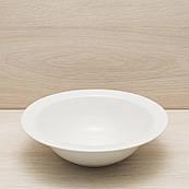 Салатница глубокая диаметр 24 см белый, глянцевый