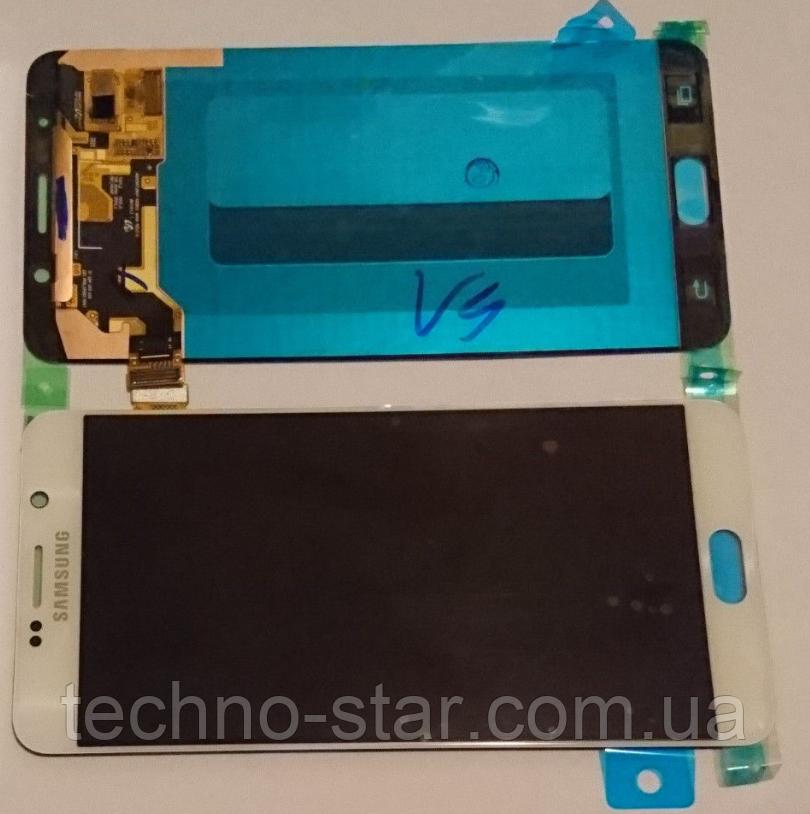 Оригинальный дисплей (модуль) + тачскрин (сенсор) Samsung Galaxy Note 5 N920C N920F (белый, переклеено стекло)