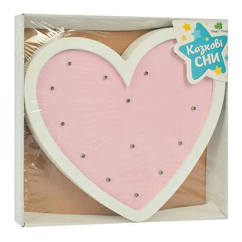 Деревянная игрушка Ночник MD 2080H(Pink) Сердце Розовый, фото 2