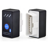 Автомобильный сканер диагностики авто OBD2 LVD Мини Bluetooth автосканер ELM327 V1.5/2.1 с кнопкой ON/OFF