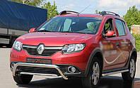 Кенгурятник, защитная дуга Renault Sandero Stepway 2012- (WT007 d=60мм F1-23)