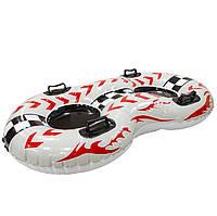 Надувные санки For Fun Лодка на 2 человека 102х62 см Белые (WSP170014)