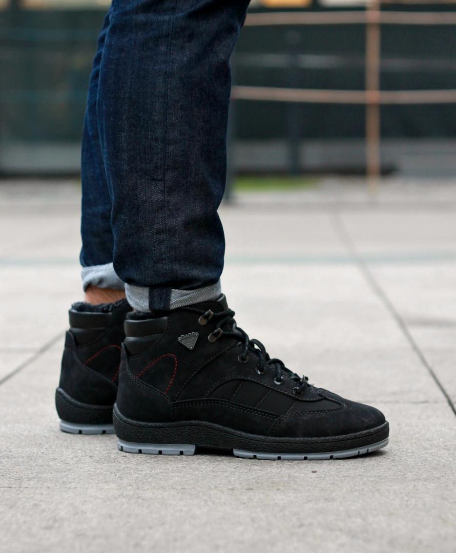 """Зимние ботинки с мехом """"Черные"""""""