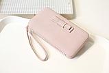 Кошелек клатч женский розовый код 234, фото 3