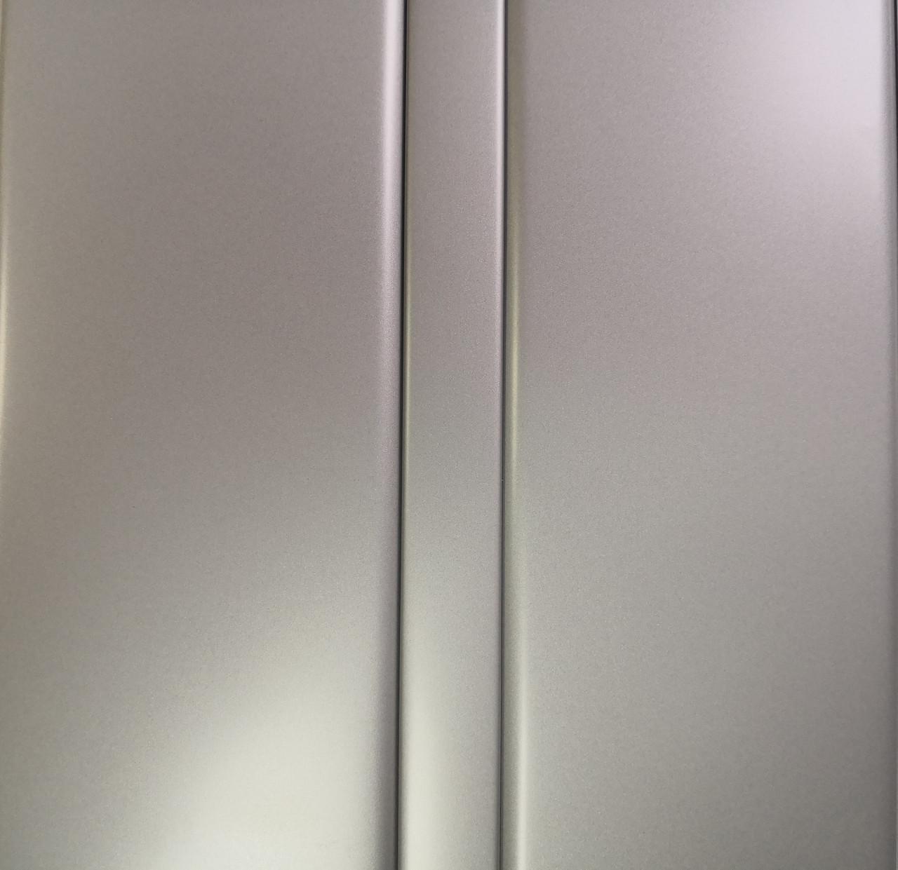 Рейкова алюмінієва стеля Allux срібло металік комплект 180 см х 330 см