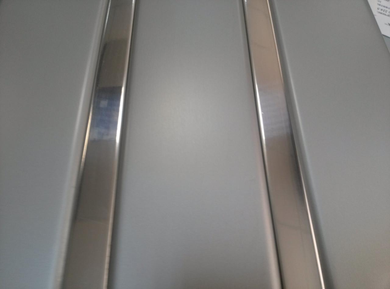 Реечный алюминиевый потолок Allux нержавейка сатин - хром зеркальный комплект 180 см х 330 см