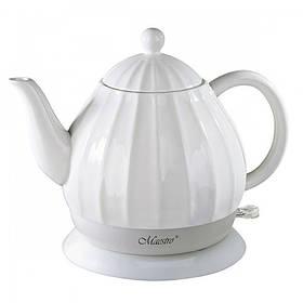 Чайник электрический Maestro White (MR-070) керамический 1,2 литра