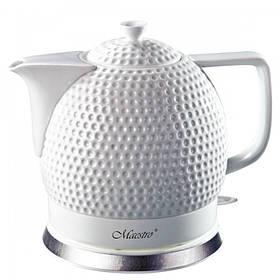 Чайник электрический Maestro White (MR-067) керамический 1,5 литра