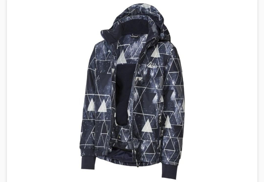 Термокуртка синяя разноцветная  зимняя лыжная для мальчика Crivit р.158/164