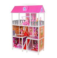 Домик для кукол с мебелью и набором кукол