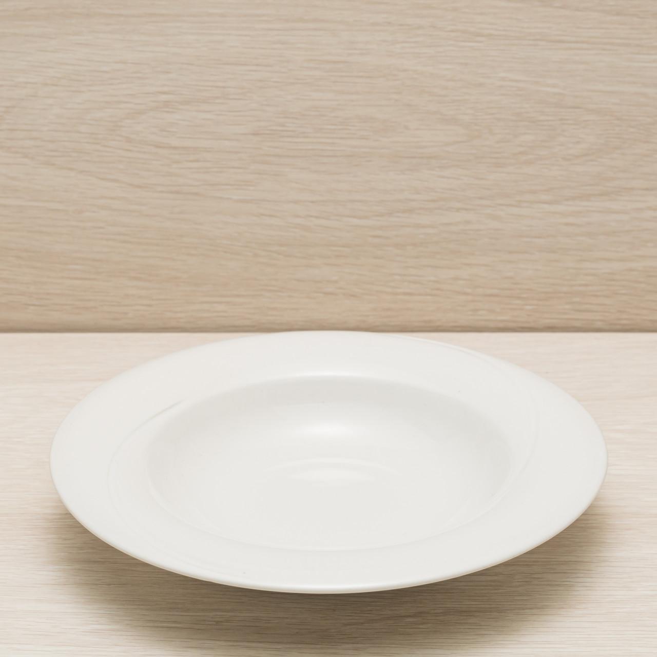 Тарелка для пасты диаметр 24 см белый, глянцевый