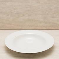 Тарелка для пасты диаметр 24 см белый, глянцевый, фото 1