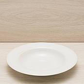 Тарілка для пасти діаметр 24 см білий, матовий