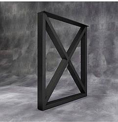 """Черные металлические опоры """"X-quad"""" для стола в ресторан Loft"""