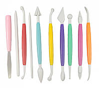 Набор инструментов для мастики из 10 шт