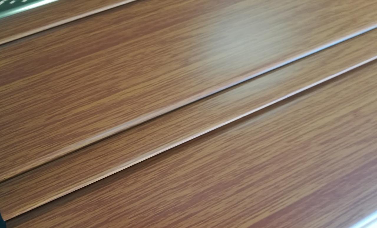 Реечный алюминиевый потолок Allux золотой дуб комплект 120 см х 150 см