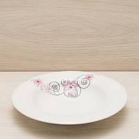 Тарелка для пасты диаметр 24 см деколь, глянцевый, фото 1