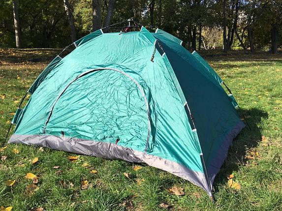 Палатка 2-х местная самораскладывающаяся SY-A02-O (200х150х110 см, PL, зеленый), фото 2