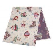 Доріжка новорічна гобеленова, 37х100см., Ексклюзивні подарунки, Новорічний текстиль