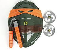 Боевой набор Микеланджело Черепашки Ниндзя - маска, панцирь, 2 сюрикена, нунчаки - 207690