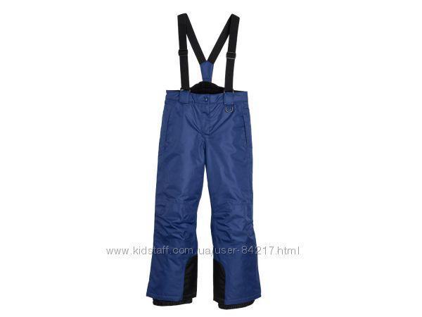 Зимние лыжные синие штаны CRIVIT р.122/128, 134/140