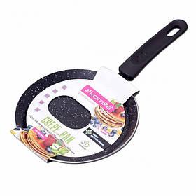 Сковорода для млинців 20 см з мармуровим покриттям Kamille КМ-0618