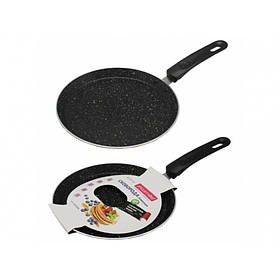 Сковорода для млинців 24 см з мармуровим покриттям Kamille КМ-0620