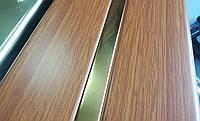 Реечный алюминиевый потолок Allux золотой дуб - золото зеркальное комплект 200 см х 240 см