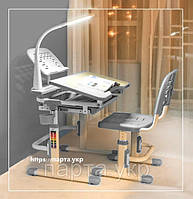 Полный комплект Парта и стул трансформеры + лампа + подставка, 3 цвета, фото 1