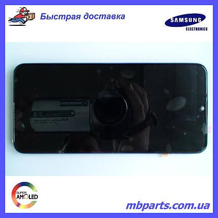 Дисплей с сенсором Samsung M205 Galaxy M20 чёрный,  GH82-18682A, оригинал, с рамкой!, фото 2