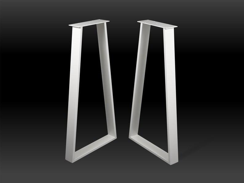 """Высокие металлические ножки для стола """"Alpha White+"""" в ресторан кафе бар"""