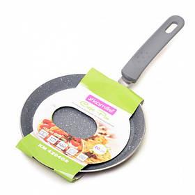 Сковорода для блинов Kamille диаметр 20 см из алюминия с гранитным покрытием КМ-4204GR
