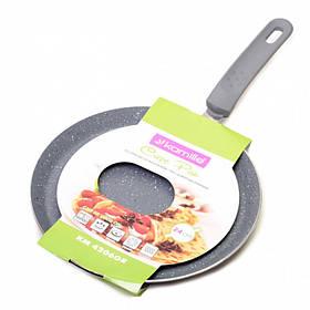 Сковорода для блинов Kamille диаметр 24 см из алюминия с гранитным покрытием КМ-4206GR
