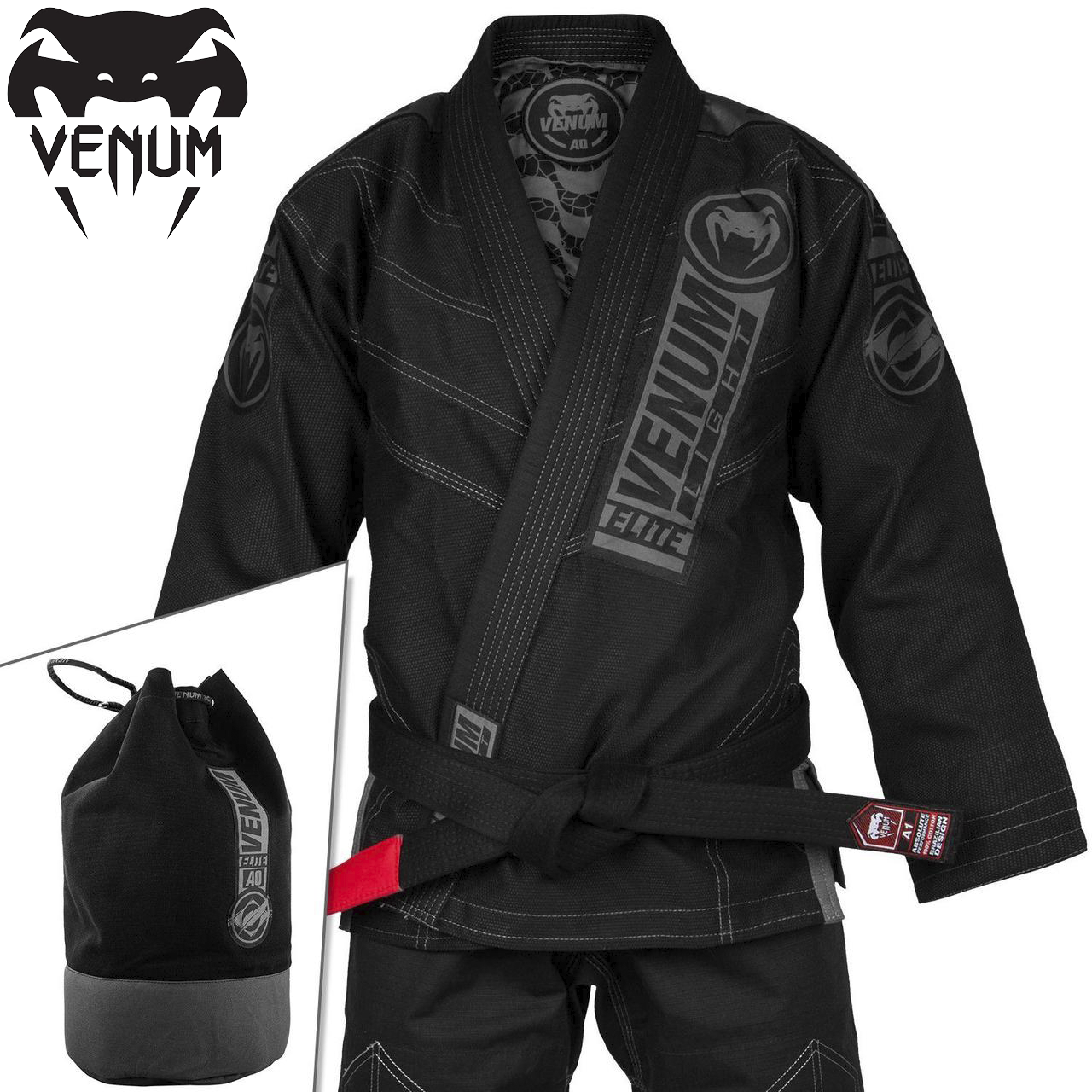 Кімоно для джиу-джитсу Venum Elite Light 2.0 BJJ GI Black Black