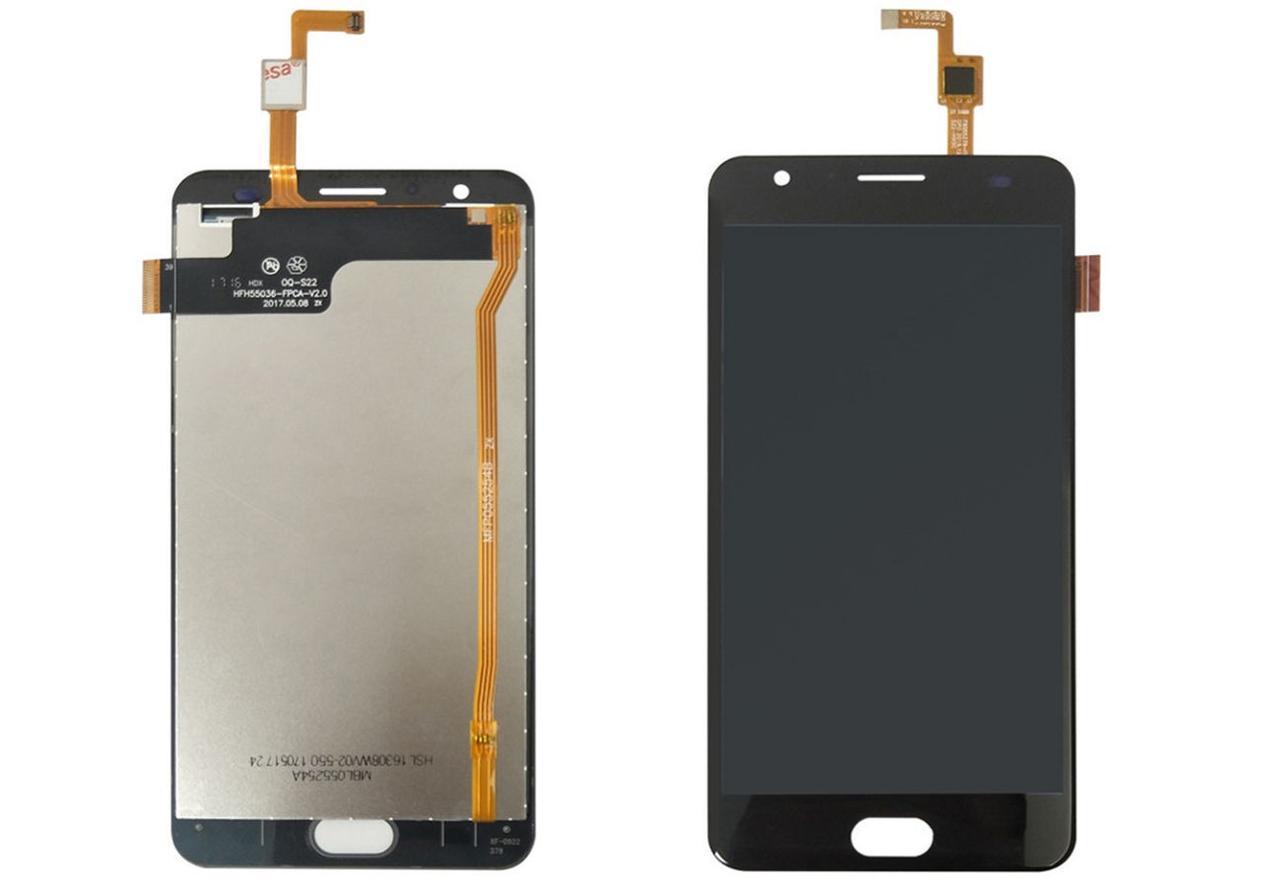 Дисплей (LCD) Oukitel K6000 с тачскрином черный Оригинал