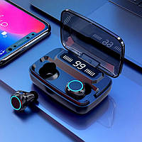 Беспроводные Bluetooth наушники M11 TWS Stereo. Индикатор заряда - LED Display. Power Bank