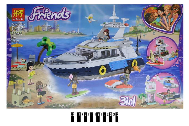 """Конструктор """"FRIENDS"""" """"Морська мандрівка на яхті""""в кор. 621дет. 59*35*6см /12/"""