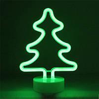 Освещение для детской комнаты LED Интерьерный неоновый ночник Елочка