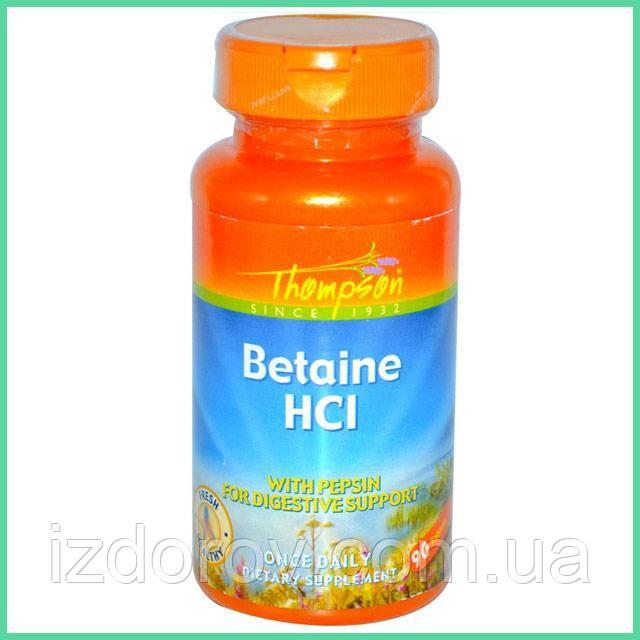 Thompson, Бетаингидрохлорид, 90 таблеток