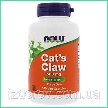 Now Foods, Кора Кошачьего когтя (Уна Де Гато), Cat's Claw (Una De Gato), 500 мг, 100 растительных капсул. США