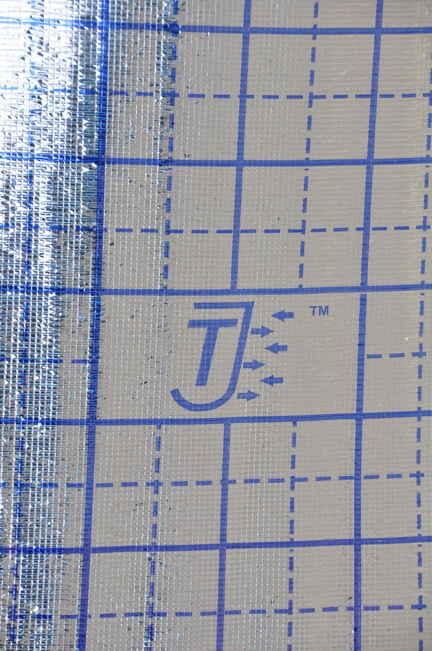 ППЕ пенополиэтилен, т. 5 мм, метализированный РЕТ+разметка теплый пол, TERMOIZOL®