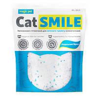 Наполнитель для котов и кошек силикагель с ароматом морской волны Cat Smile Magic Pet - 3.6 л