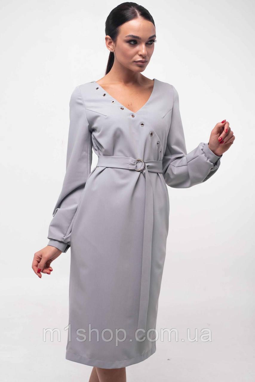 Женское платье с треугольным вырезом и поясом (Хайди ri)