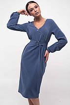 Женское платье с треугольным вырезом и поясом (Хайди ri), фото 3