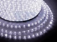 Гирлянда-дюралайт светодиодная трехжильная 10 м Белая