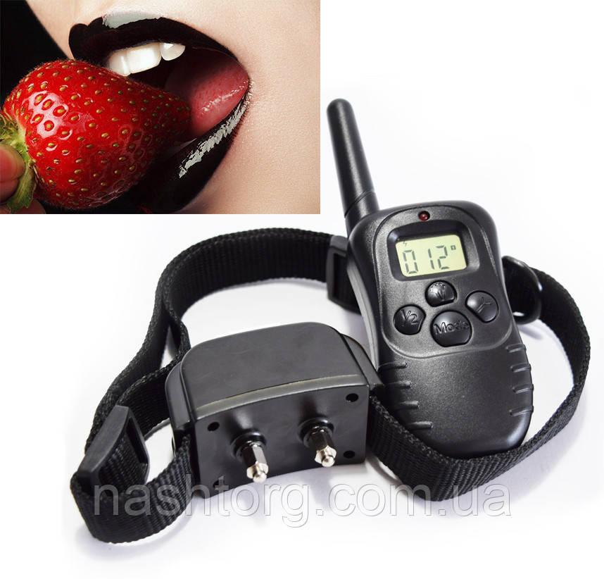 🔝 Ошейник для ролевых игр   Training Collar 998DR   электро контроль через ДУ на расстоянии, БДСМ   🎁%🚚
