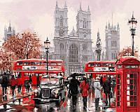 Раскраска по цифрам Дождливый Лондон Худ МакНейл Ричард (VP441new) 40 х 50 см