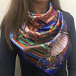 Платок шелковый 10144-13, павлопосадский платок шелковый (атласный) с подрубкой, фото 4